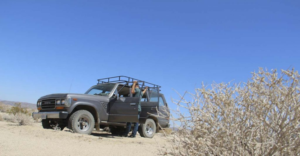 The Toyota Landcruiser that we spent our day in the desert in.